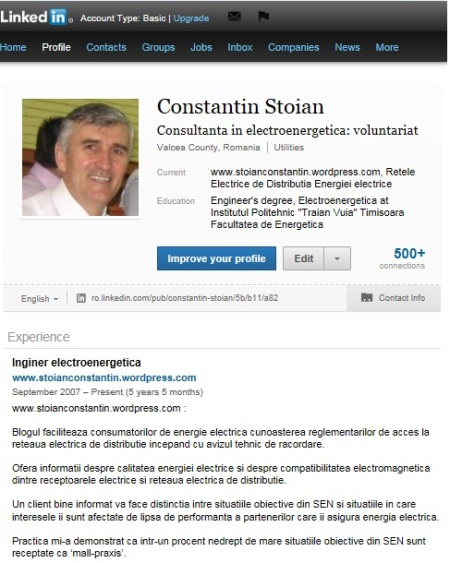 Print screen profil SGC pe LinkedIn_1