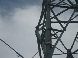 Stalp 110 kV cu structura de rezistenta compromisa