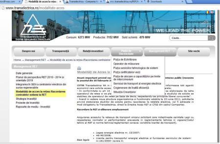 Site nou Transelectrica
