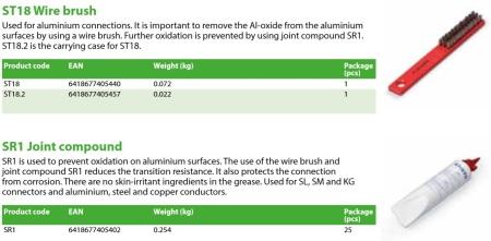 Fig 10 Perie de indepartat oxidul de Al ENSTO