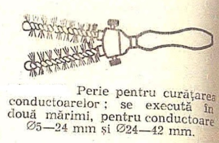 fig 9 Perie pentru curatarea conductoarelor